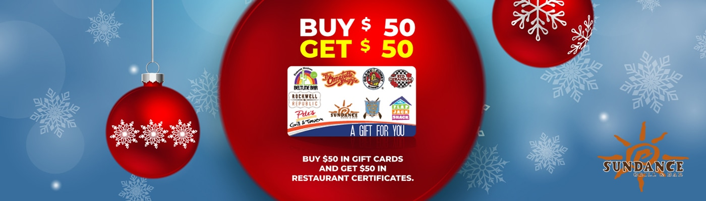sundance grill and bar gift card promotion